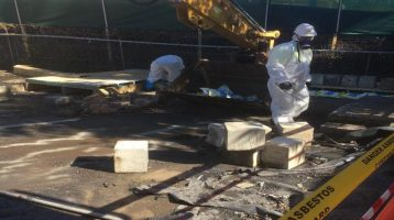 REMOVING ASBESTOS AFTER A FIRE